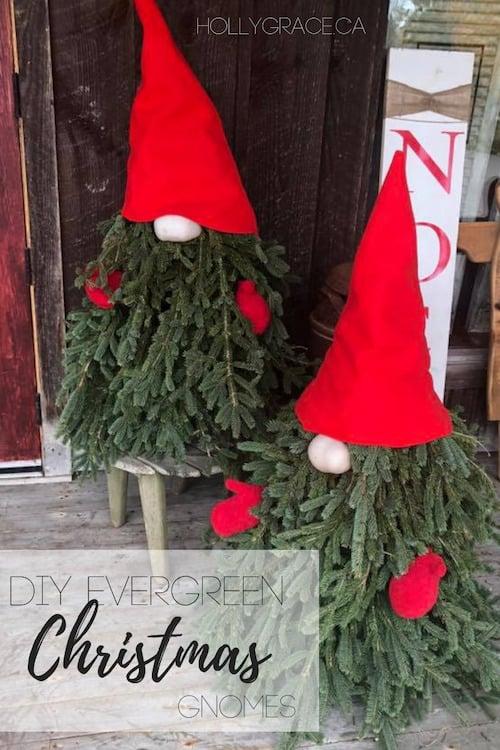 DIY Evergreen Christmas Gnome