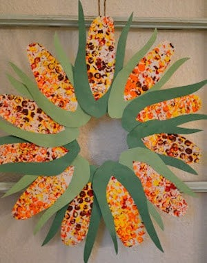 corn wreath craft
