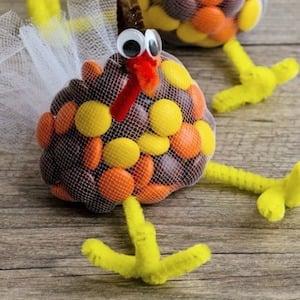 Edible Thanksgiving Turkey Treat Bags