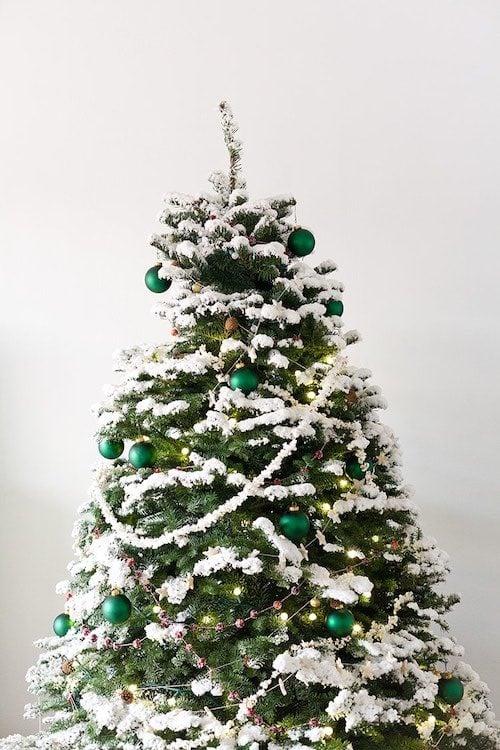 Old Fashioned Christmas Garland Christmas Tree