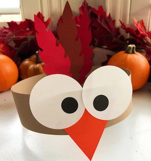 Turkey Paper Headbands thanksgiving craft for kids