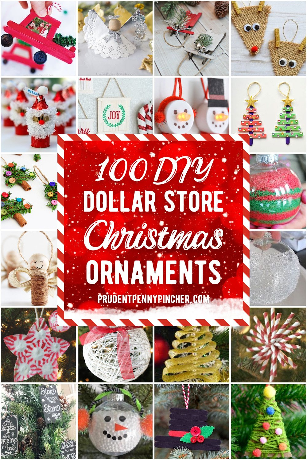 100 Dollar Store Diy Christmas Ornaments Prudent Penny Pincher