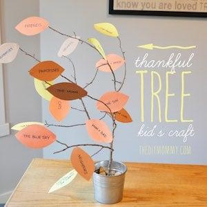 Thankful Tree thanksgiving craft for kids