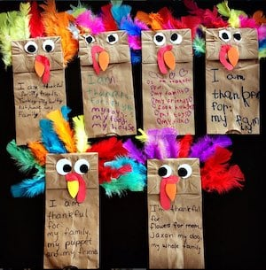 Paper Bag Turkey Puppet