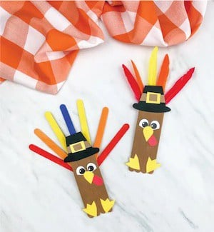 Turkey Popsicle Stick Craft For Kids