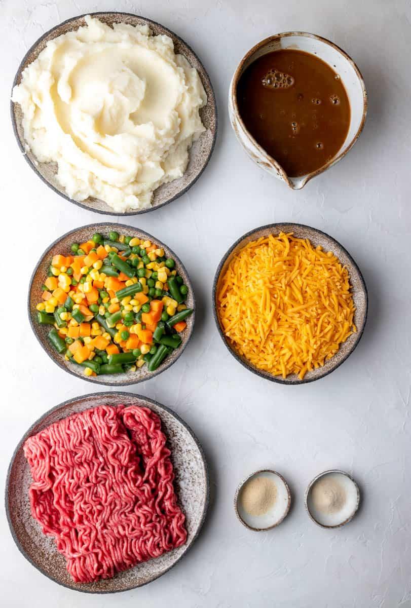 Beef Shepherds Pie ingredients