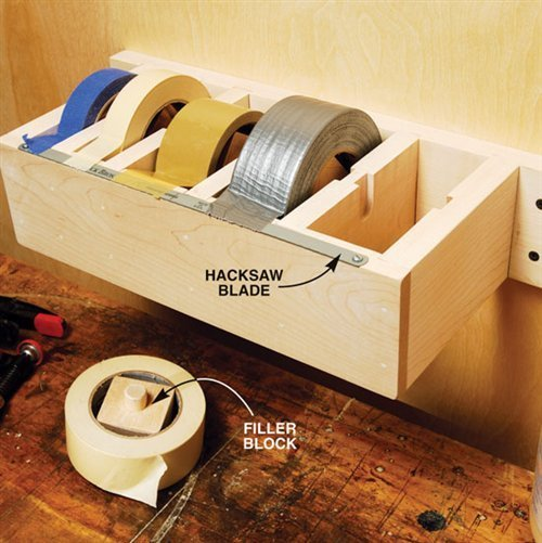 DIY wood Jumbo Tape Dispenser