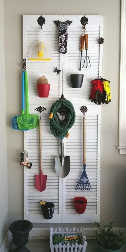 Garden Supply organizer for the wall