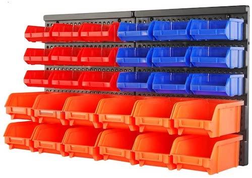 Wall Mounted Plastic bins Hardware Storage