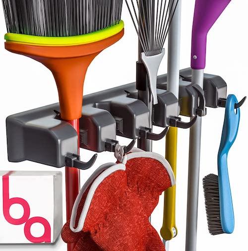 wall mounted broom and mop Organizer