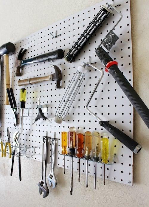 Pegboard Tool Organization