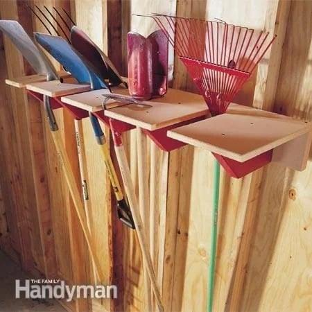 DIY Shovel Rack