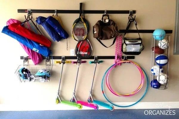 wall mounted garage organizer