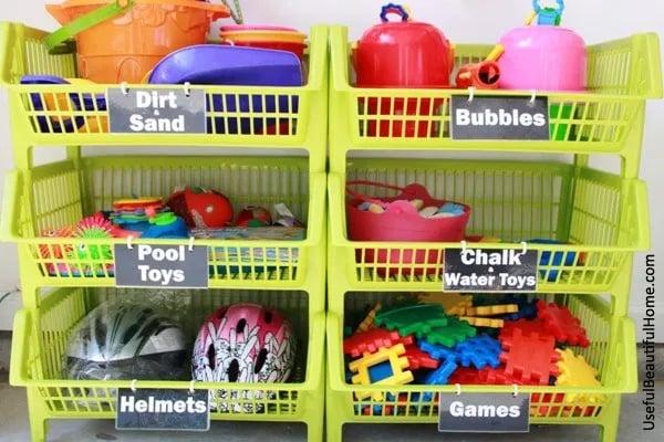 Garage Toy Storage Bins