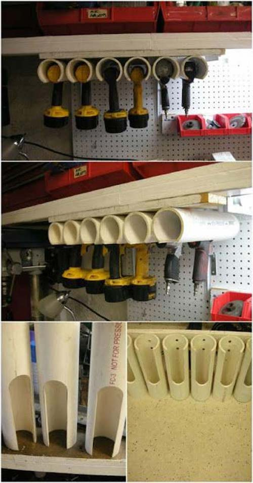 PVC Pipe Tool Organizer