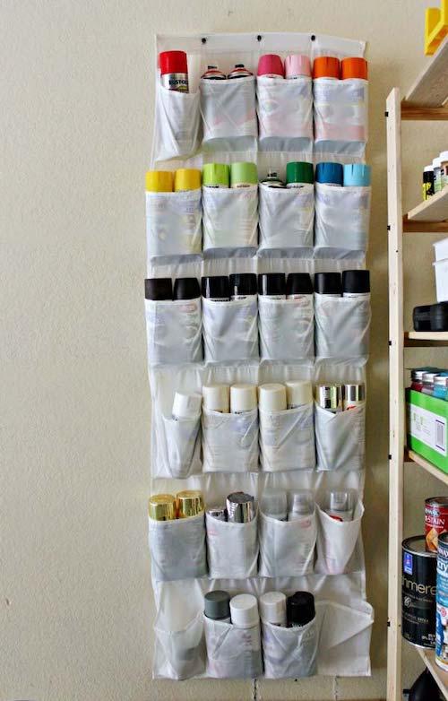 Over the Door Hanger Spray Paint Organization
