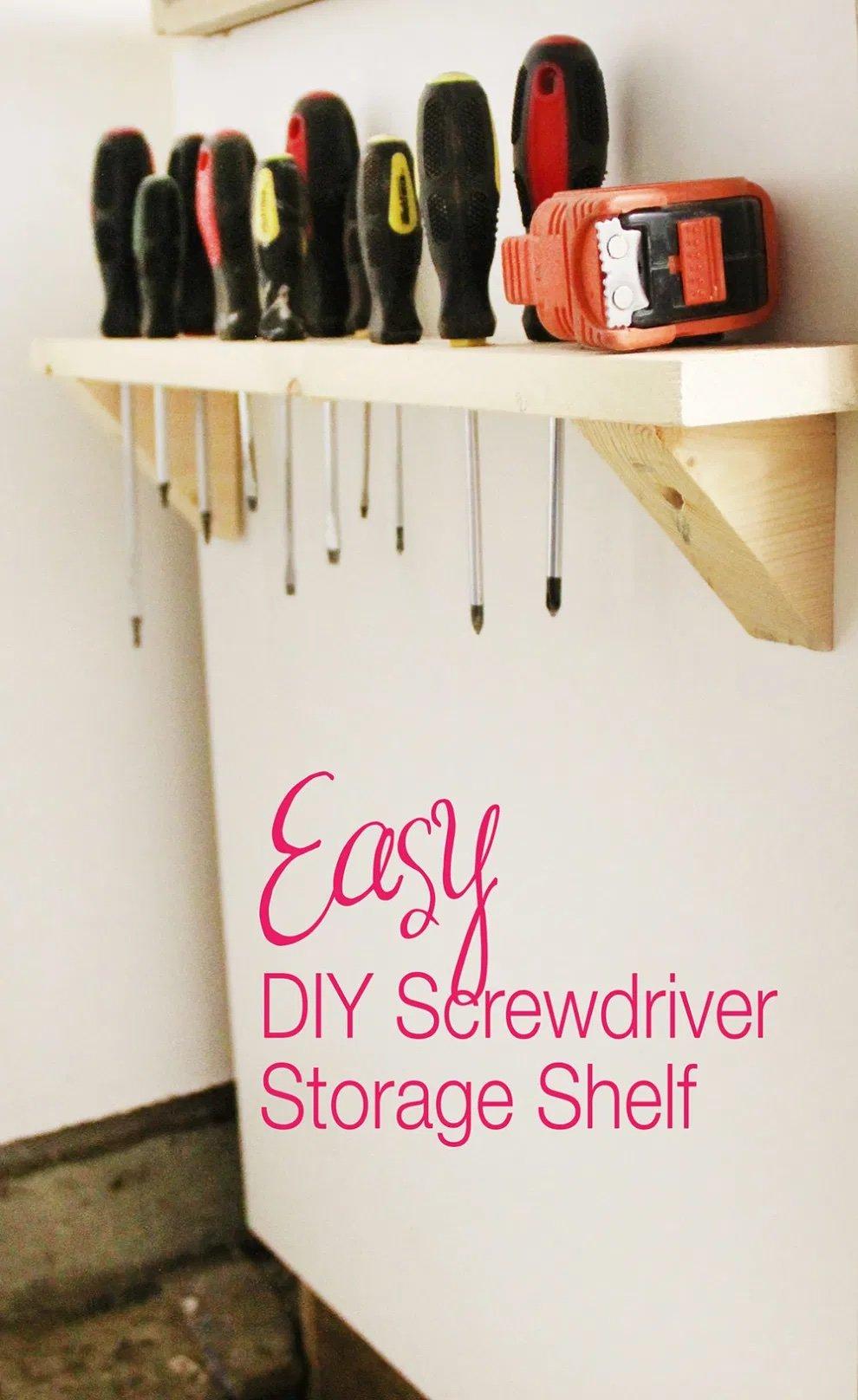 Screwdriver Storage Shelf