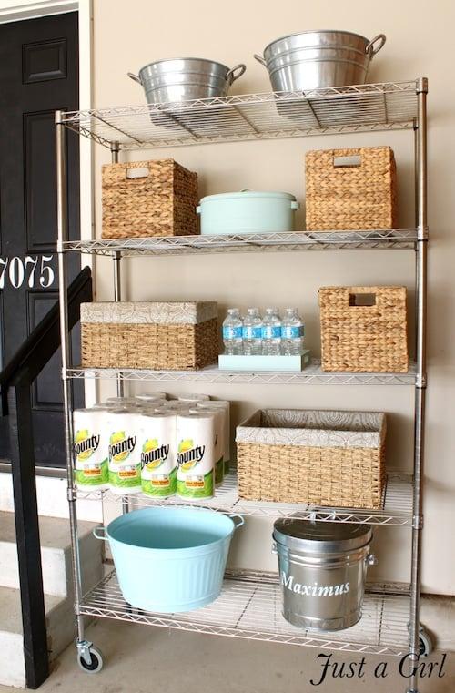 utility rack garage organization