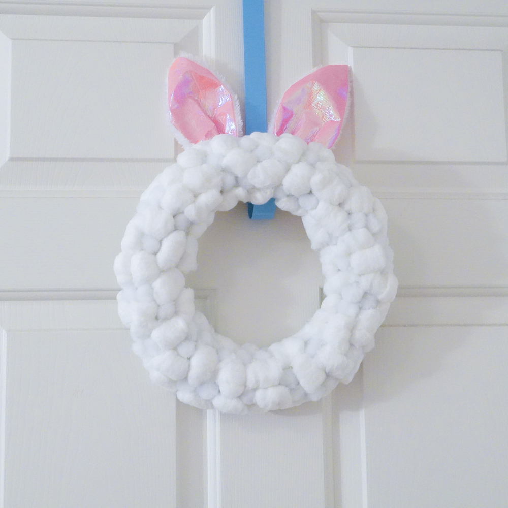 dollar store easter bunny wreath