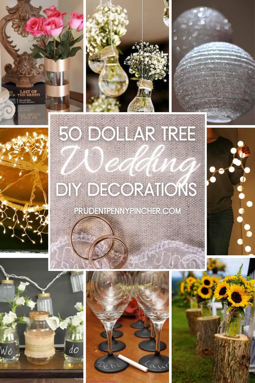 20 Dollar Store DIY Wedding Decorations   Prudent Penny Pincher