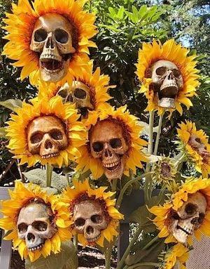 Skull Flowers for the yard