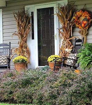 Traditional Fall Front Door Decor