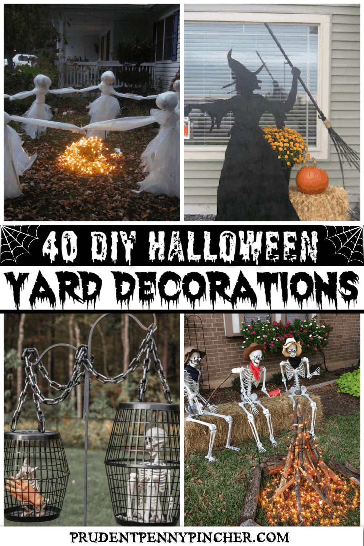 20 DIY Halloween Yard Decorations   Prudent Penny Pincher