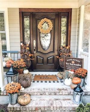 Neutral Farmhouse Fall Porch