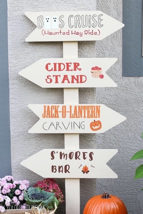 outdoor fall festival sign