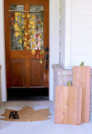 Natural Leaf and Branch Door Hanger