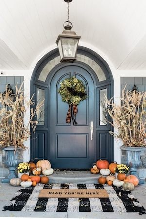 Fall Front Porch Scape