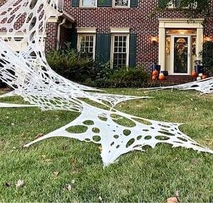 Giant Spiderweb Halloween Yard Decoration