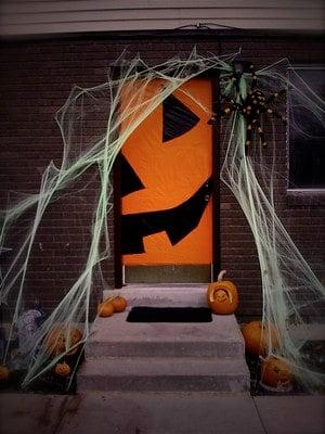 jack o lantern front door