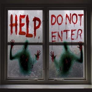 do not enter window clings for halloween