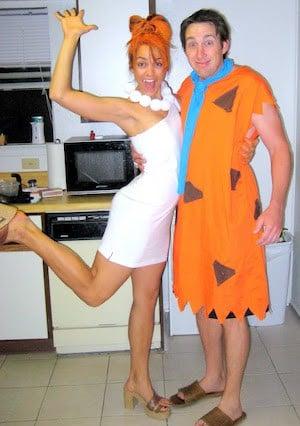 Easy Fred and Wilma Couples Halloween Costumes