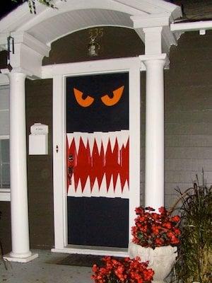 monster halloween door decoration