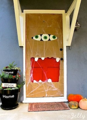 Paper-bag-door-monster
