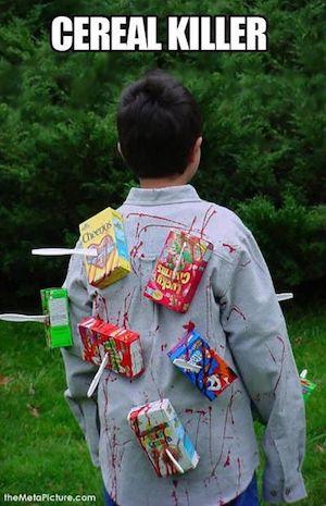 DIY Cereal Killer costume