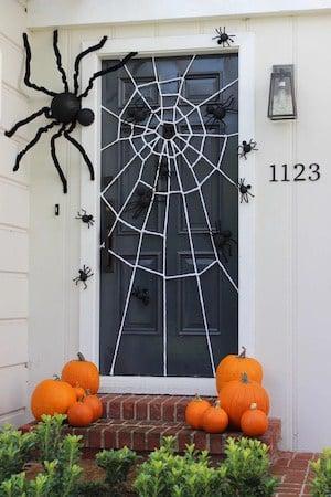 Halloween Spider Web Door Decoration