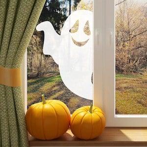 friendly ghost in window