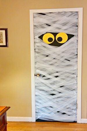 mummy halloween door decoration
