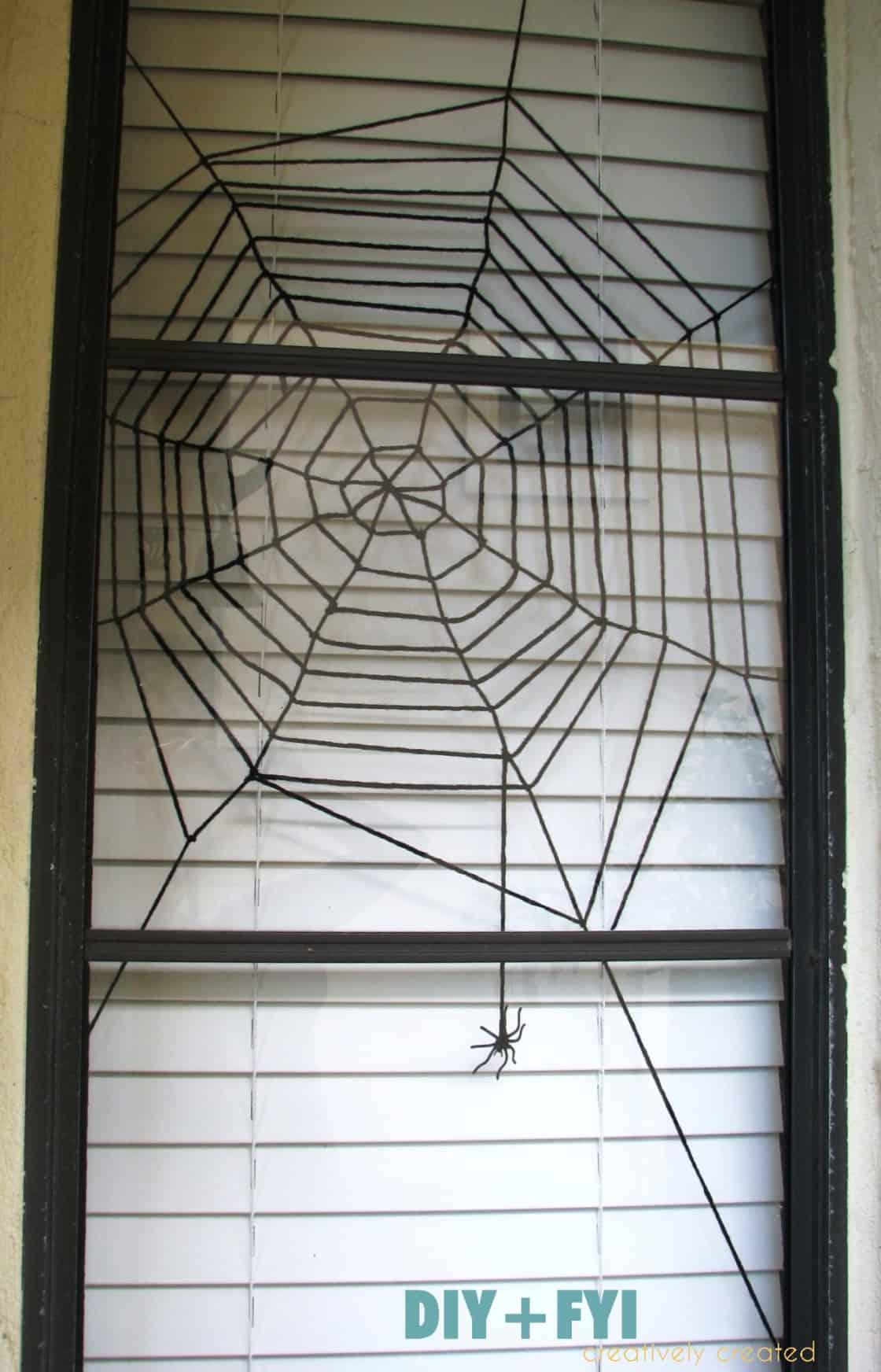 halloween spiderweb window decoration