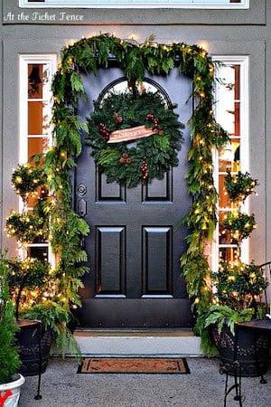 Christmas Greenery Door Garland