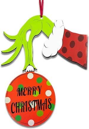 grinch door hanger christmas decoration