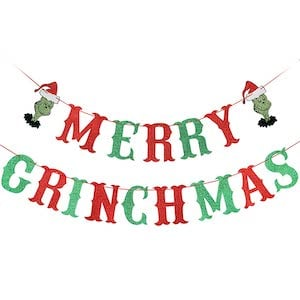 grinch christmas banner decoration