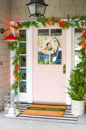 Colorful Farmhouse Front Door