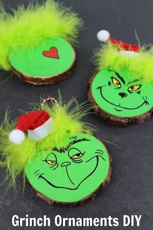 DIY Grinch Christmas Ornaments