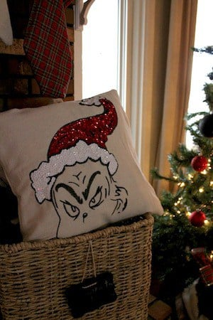 Grinch Pillow Christmas Decoration