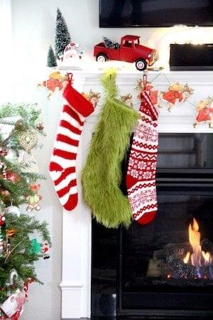 Grinch Stocking Christmas Decoration