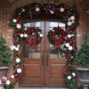 Christmas Garland DIY Door Decoration